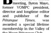 VOMPC LifeTime Award