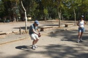 Byron Petanque ~ tossing a pointer