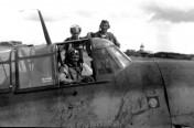 Byron and his Grumman Avenger TBF on Tinian
