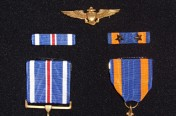 WWII Awarded Distinguished Flying Cross & Air Medal with 2 Gold Stars