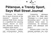 Wall Street is Trendy on Petanque